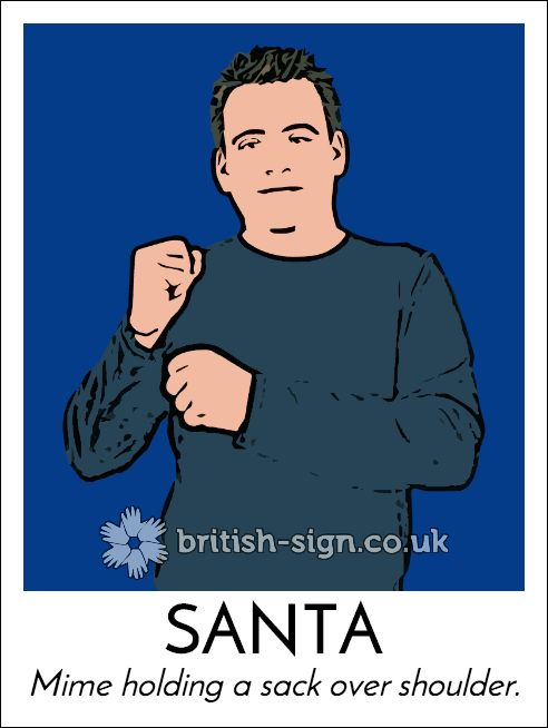 Today's #BritishSignLanguage sign is: SANTA #Christmas