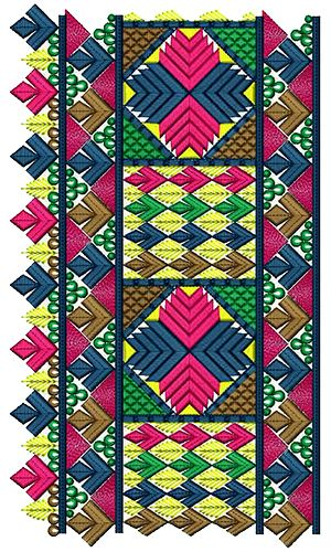 Decorative Indian Border Embroidery Design 16766