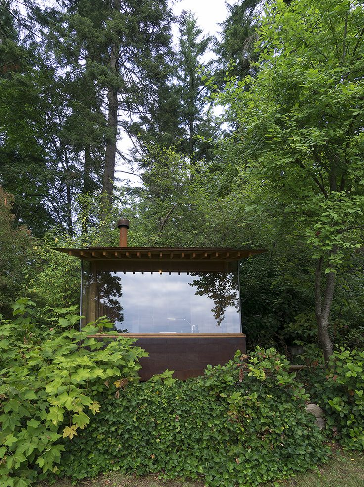 Erecting a modern cabin where a tool shed once stood became a family exercise for architect Jim Cutler and his daughter, Hannah, who worked with him on the design and build.
