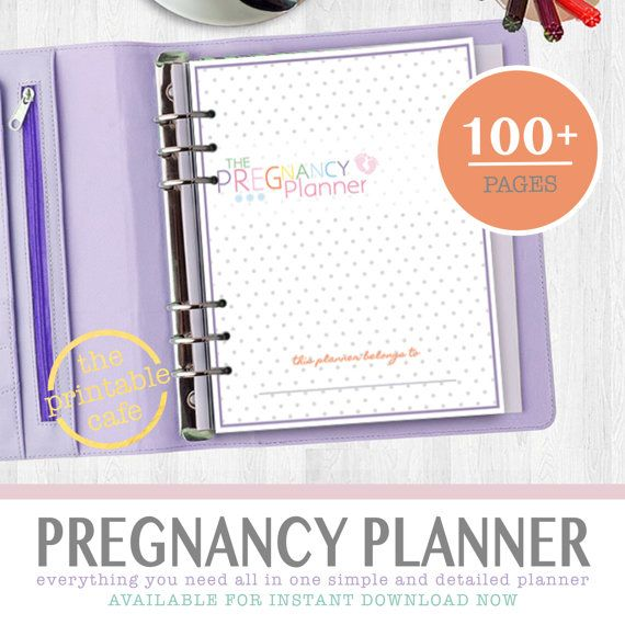 Ultimate Printable Pregnancy Planner Book - INSTANT DOWNLOAD - Week-by-Week, Baby Names, Journal, Nursery, Baby Shower and more 100+ pages