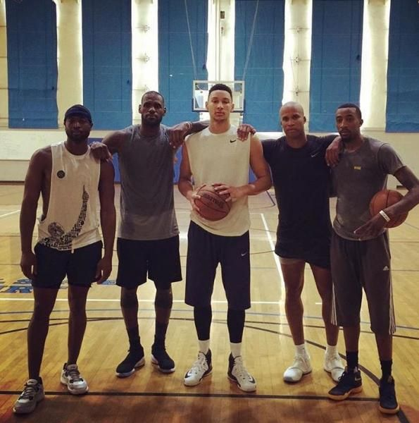 LeBron James, Dwayne Wade & Ben Simmons Training At UCLA (Photo)