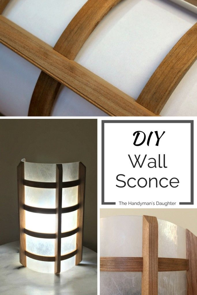 I helped my father create the prototype for this gorgeous wooden wall sconce…