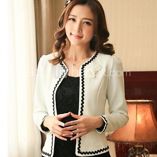 o trabalho das mulheres arco manga longa curto blazer (algodão) de 2017 por R$112.62