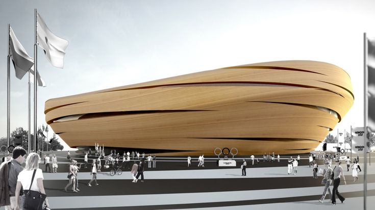 This extraordinary Olympic Velopark proposal was passed over in favor of the Hopkins Architects proposal | Thomas Heatherwick: 01 Architecture, Thomas Heatherwick, Facade, Architect Heatherwick Studio, Architecture Building, Olympic Velopark, Place, Heatherwick Velopark, Amazing Architecture