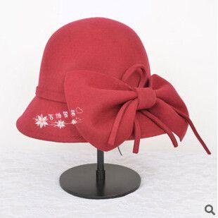 wool wide brim felt hat fedora hats for women big bow of fall winter chapeu feminino sombrero floppy bowler ladies bucket cap