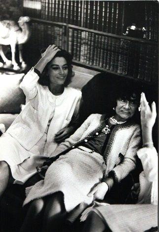 Coco Chanel and Anouk Aimée par Hatami