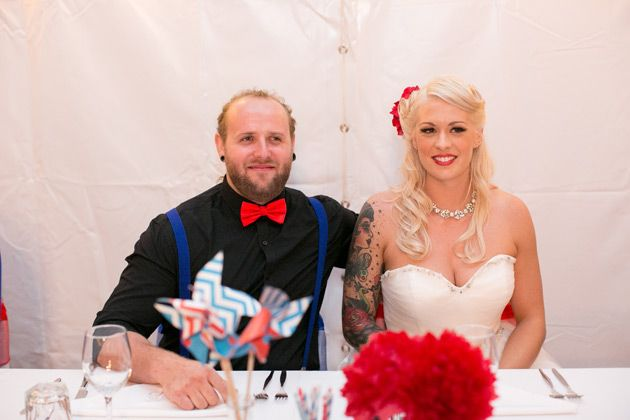 close up of the newlyweds