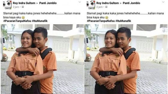 Roy Indra Gultom Bocah SD Pamer Foto Mesra Dan Ejek Para Jomblo Yang Hebohkan Facebook