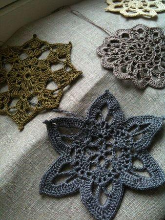 Love light grey crochet motif!