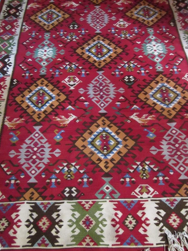 """Hand made rug from Kotel,BG Котленски килим""""Звезди с птичета""""...поетично нали..."""