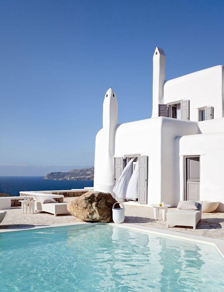 White summer retreat in Greece