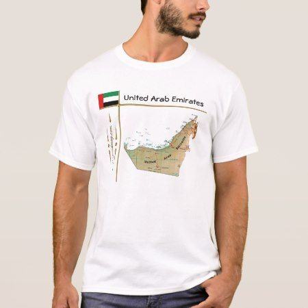 UAE Map + Flag + Title T-Shirt - tap, personalize, buy right now!