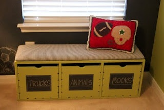 cute storage bench: Playrooms Ideas, Storage Solutions, Plays Rooms, Storage Challenges, Interiors Design, Lisa Interiors, Diy Storage, Kids Rooms, Storage Benches