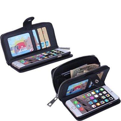 dealsdirect.com.au - Iphone 5 5S Portable Folding Multifunction Wristlet Zipper Case With Card Wallet - Black