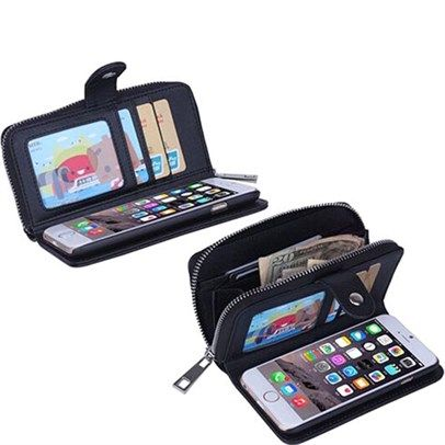 dealsdirect.com.au - Iphone 5 5S Portable Folding Multifunction Wristlet Zipper Case With Card Wallet - Black