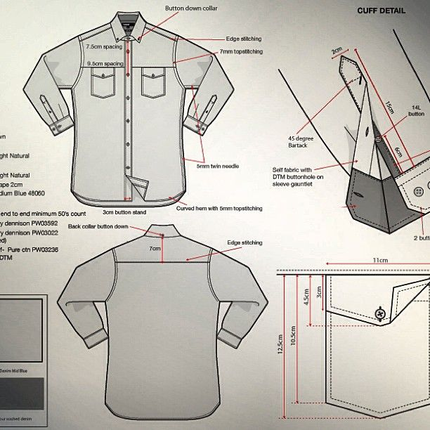 Shirt Techpack