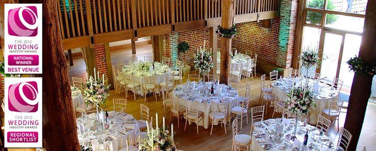 Weddings at Gaynes Park - stylish and contemporary barn wedding venue in Essex