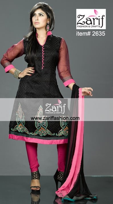 Feeling always expressed in style with this charming Black Muslin Kamiz with embellished with heavy work in awesome design along with elegant look patch border add a regal touch to your happening. Shiffon orna and crape silk salwar will comes with dress. As an elegant queen feel something different.