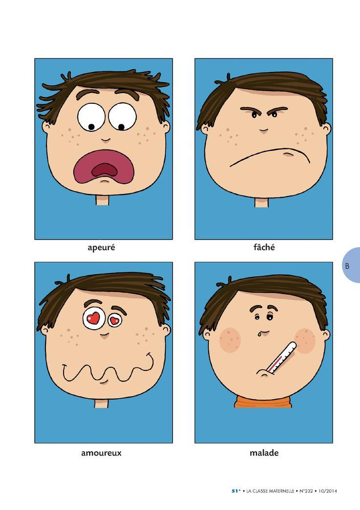 7 images avec les principales émotions.