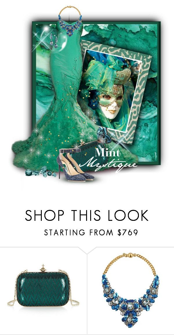 """""""Mint Gown 4/9/17"""" by franceseattle ❤ liked on Polyvore featuring INC International Concepts, Georges Hobeika, Vivienne Westwood, Shourouk and Jimmy Choo"""