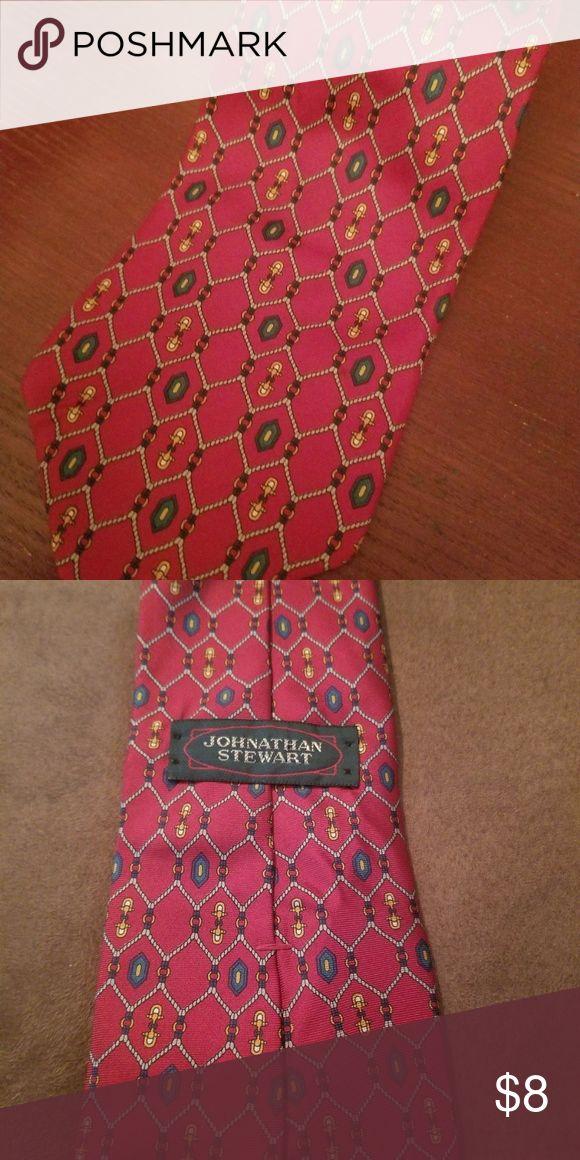 Jonathan Stewart Silk Red Men's Tie NWOT Jonathan Stewart Silk Red Men's Tie Jonathan Stewart Accessories Ties