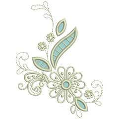 Petals & Posies - 25 applique cutwork machine embroidery designs