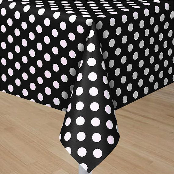 Mickey Mouse Minnie Mouse black red or Yellow with white polka dots table cover great for Club House  birthday partys - and Baby Showers on Etsy, $7.49