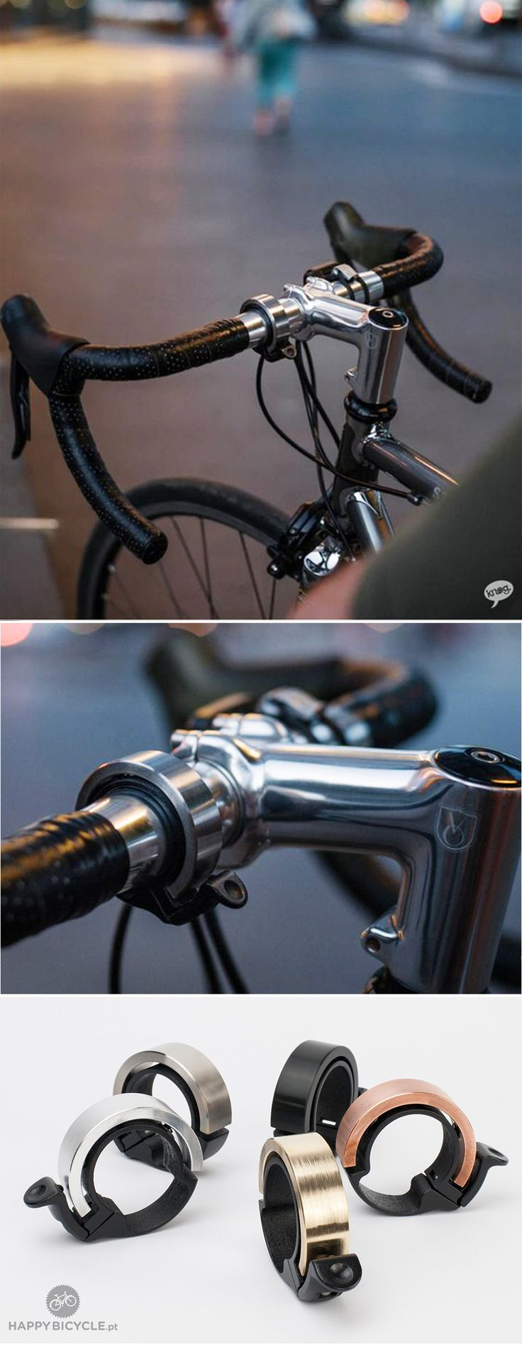 Bike bells generally look and sound a bit ugly. But why? What if they looked sexy and subtle - Oi Bike Bell | HappyBike.eu