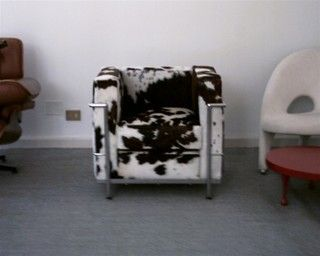 Corbusier Petite Club Chair w/ Cowhide - Midcentury - Armchairs And Accent Chairs - boston - by Sedia Inc