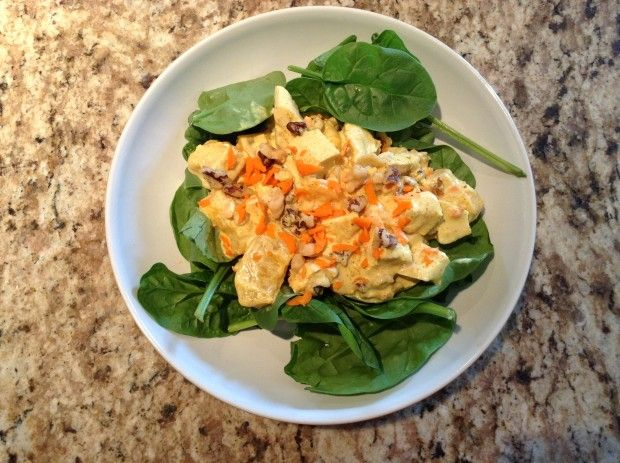 Summer Salad! Curried Chicken, Peach and Pecan Salad! - The WeeSource ...
