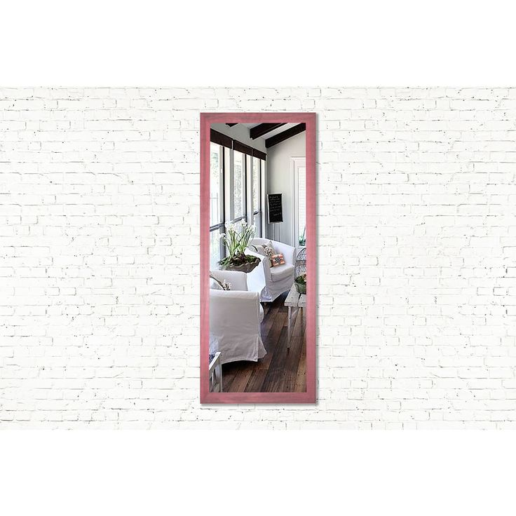 Rayne Mirrors U.S. Made Vintage Pink Framed Mirror (39.5 x 45.5)