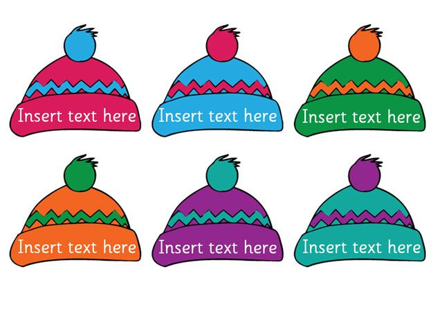 Teacher's Pet - Editable Winter hats - FREE Classroom Display Resource - EYFS, KS1, KS2, winter, hat, christmas, self, registration, editable, labels