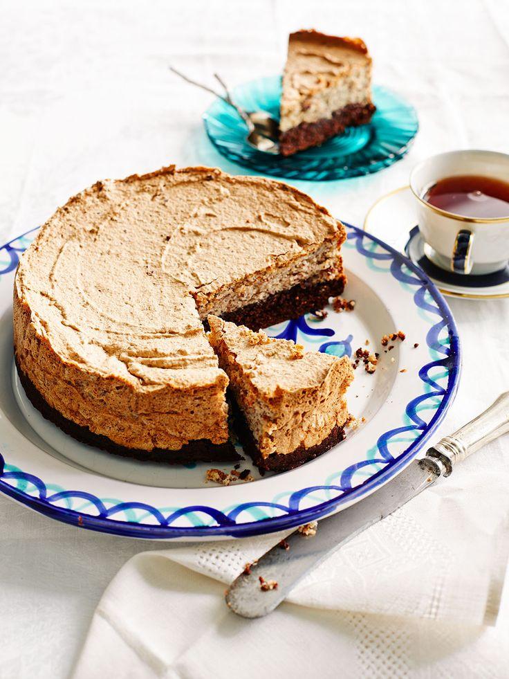 Passover cake. Choc and walnut