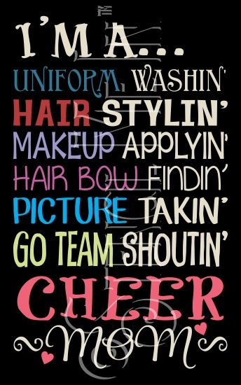 Cheer Mom Cheerleader Typography Stencil | Stencil Me In