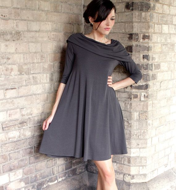 Flowing Capelet Dress