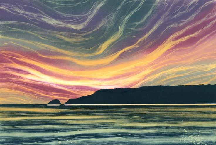 Twilight - Monotypes by Northumberland artist Rebecca Vincent