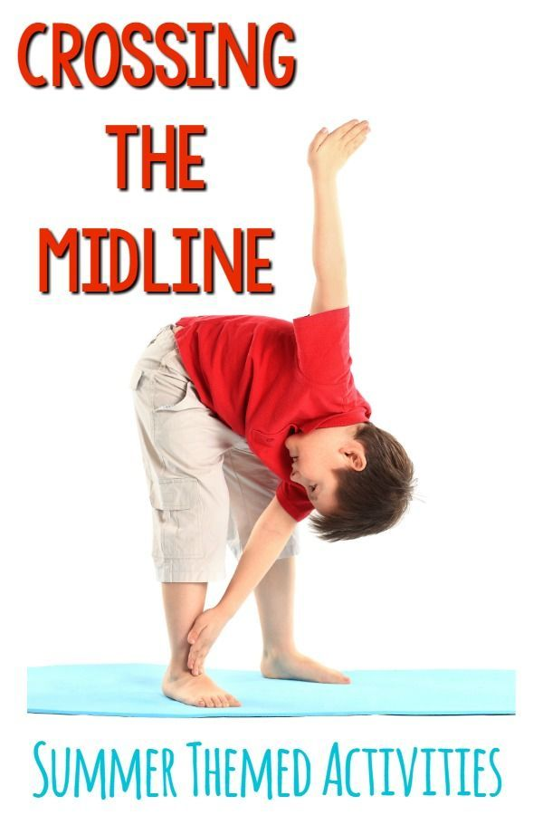 Crossing The Midline Activities. These activities are awesome for summer, but could easily be done year round!