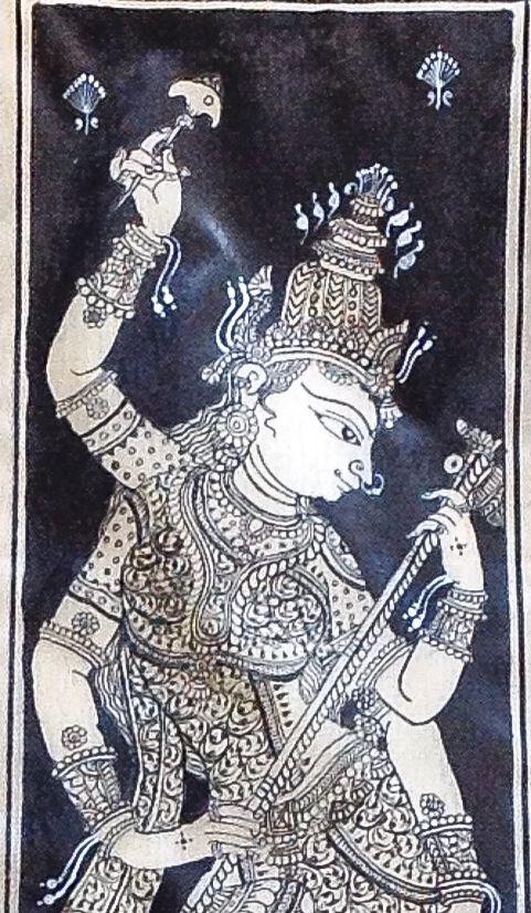 Buy this beautiful patachitra painting of Goddess Saraswati from www.ananyakrafts.com!