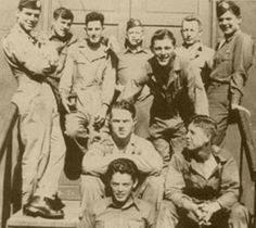 Easy Company. Top row l-r is Carwood Lipton, Cecil Pace and James Alley (others unidentified). Middle row l-r is Kenneth Baldwin and Wayne 'Skinny' Sisk. Bottom: William 'Bill' Maynard.