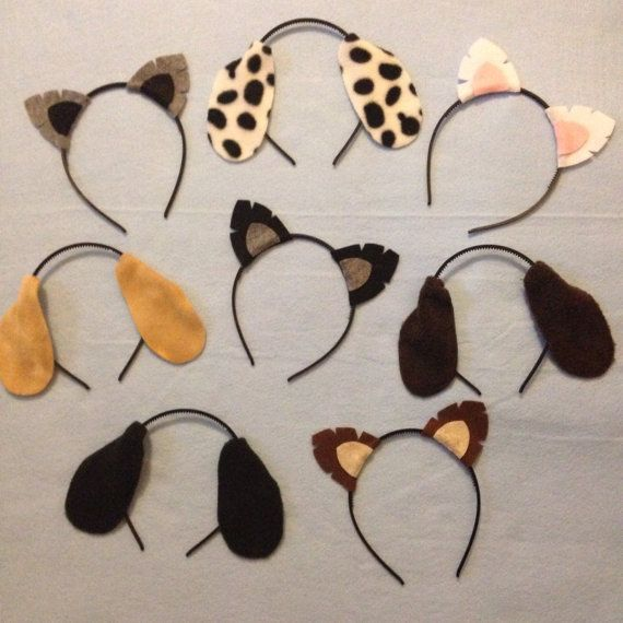 8 quantity Puppy Dog Theme Ears Headband birthday party favors theme supplies decor invitation paw patrol hat package photo booth prop