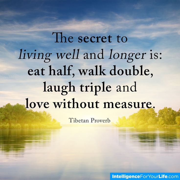 The secret to living well & living longer....