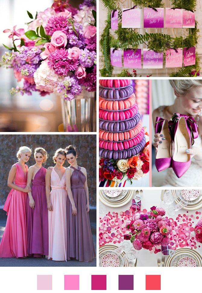 Barevná paleta #4: Růžová a fialová - Originální Svatba
