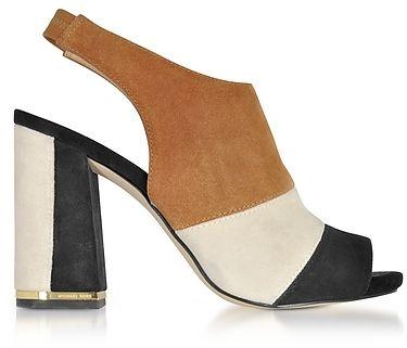 Michael Kors Anise Open Toe Sandale aus Wildleder in schwarz MOde Frauen  Schuhe