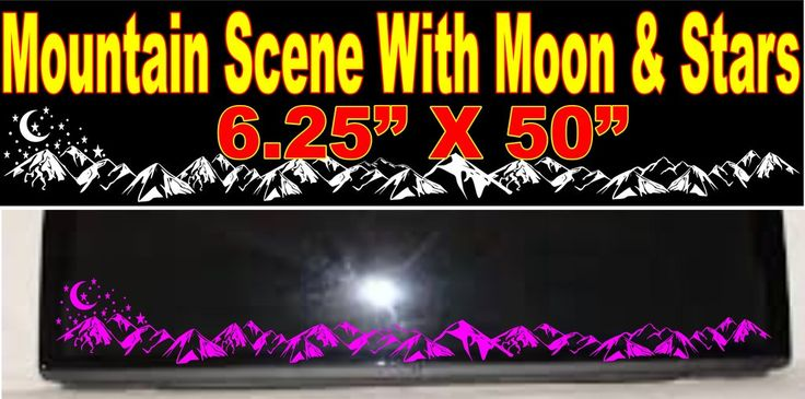 Mountain Scene With Moon & Stars Rear Window Decal for Jeep and others