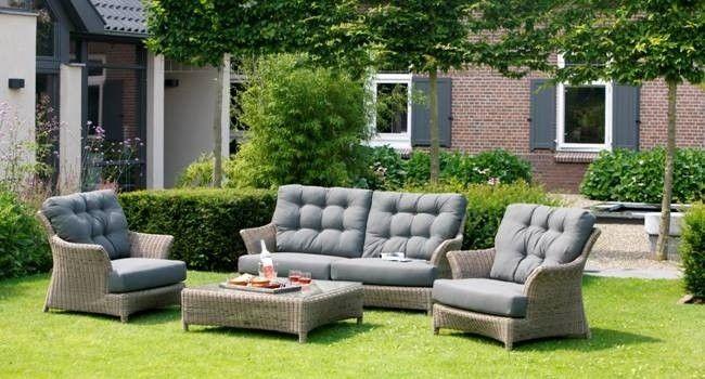 Комплект Valentine living 4 Seasons Outdoor (Голландия) | Мягкая группа- диван  и кресла для улицы, мебель для сада
