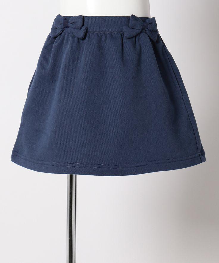 組曲 KIDSの【TODDLER】ジョグデニム ワンピース(スカートのみでも着用OK)です。こちらの商品はONWARD CROSSETにて通販購入可能です。