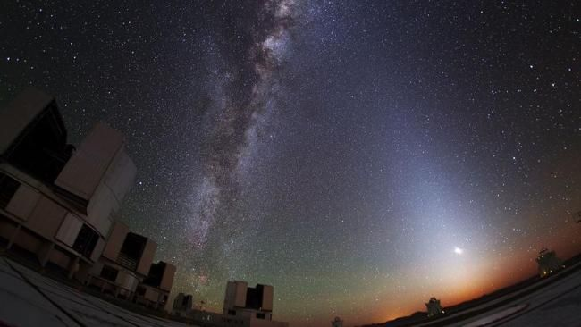 Santiago de Chile, a view of the Milky Way