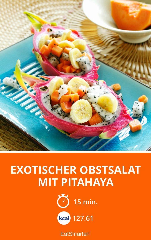 Exotischer Obstsalat mit Pitahaya - smarter - Kalorien: 127.61 Kcal - Zeit: 15 Min. | eatsmarter.de