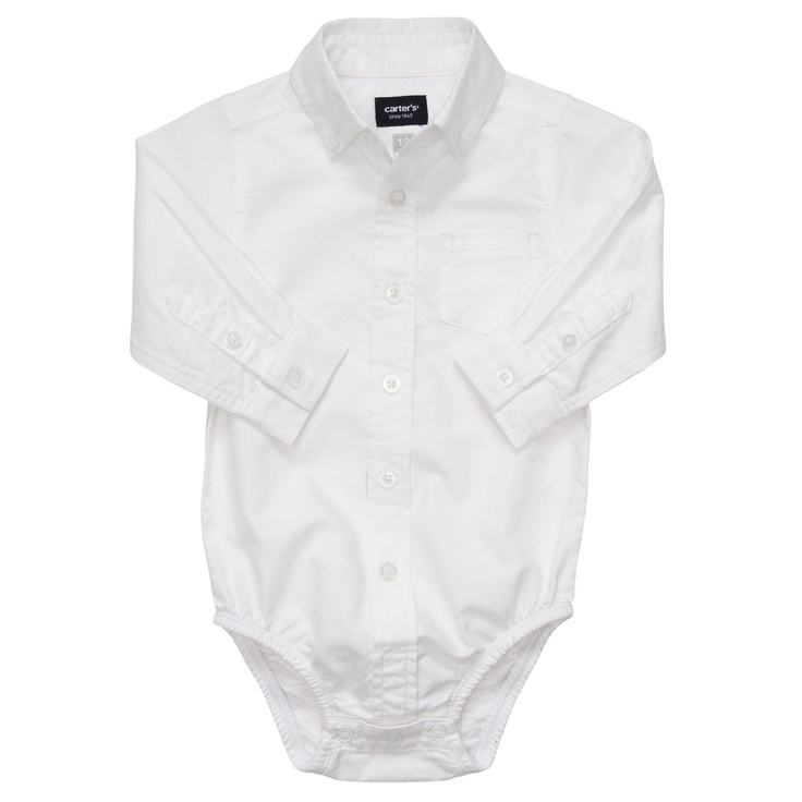 camisaBows Ties, Carters Baby Boys, Oxfords Bodysuit, Bow Ties, Dresses Shirts, Sleeve Bodysuit, Longsleeve Oxfords, Carter Baby Boys, Oxfords White