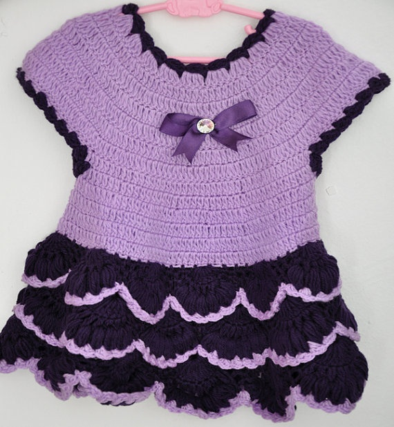 Big Sale Crocheted Baby Girl Dress in by KnittingbyDOGAART on Etsy, $30.00